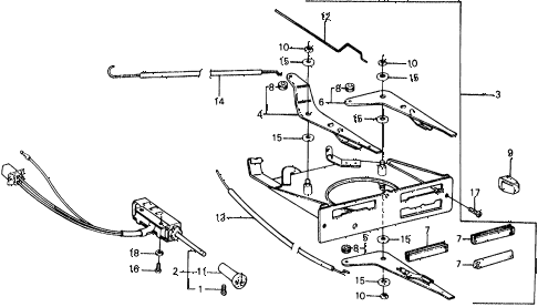 1976 civic ** 5 DOOR HMT HEATER LEVER diagram