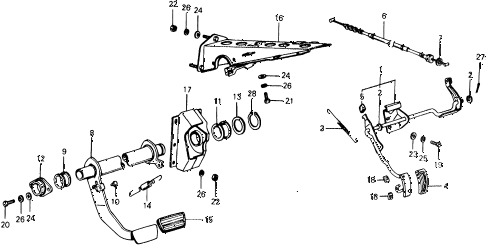 1977 civic ** 5 DOOR HMT HMT PEDAL diagram
