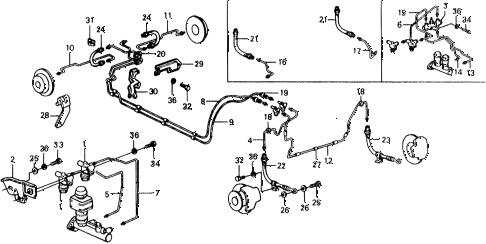 1977 civic ** 5 DOOR 4MT BRAKE HOSE - BRAKE PIPE diagram