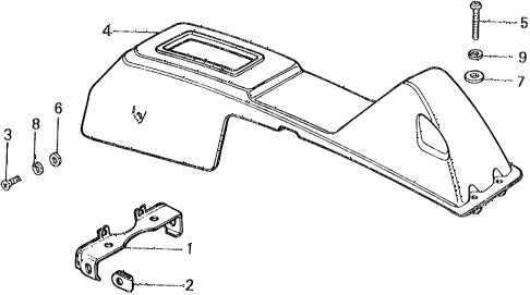 1977 civic ** 5 DOOR HMT HMT CENTER CONSOLE diagram