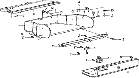 1977 civic ** 5 DOOR HMT GLOVE BOX diagram