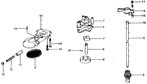 1975 civic ** 5 DOOR 4MT OIL PUMP diagram