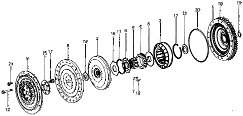 1976 civic ** 5 DOOR HMT HMT TORQUE CONVERTER diagram