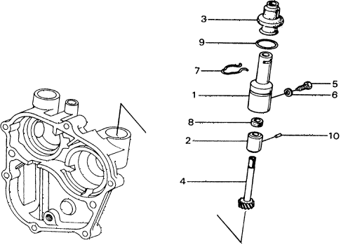 1977 civic ** 5 DOOR 4MT MT SPEEDOMETER GEAR diagram