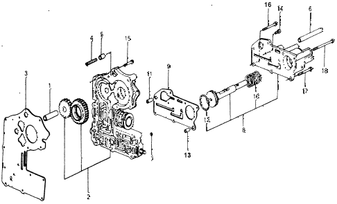 1978 accord STD 3 DOOR HMT AT VALVE BODY diagram