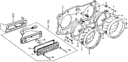 1976 accord STD 3 DOOR 5MT HEADLIGHT - FRONT COMBINATION LIGHT diagram