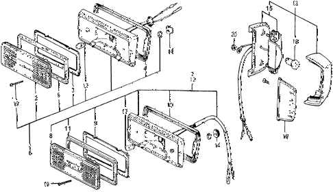 1978 accord LX 3 DOOR HMT FRONT SIDE TURN SIGNAL LIGHT diagram