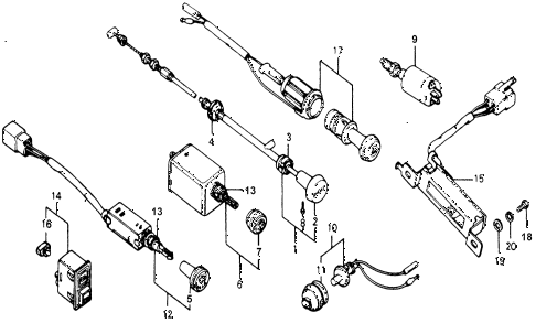 1978 accord STD 3 DOOR HMT DASHBOARD SWITCHES diagram