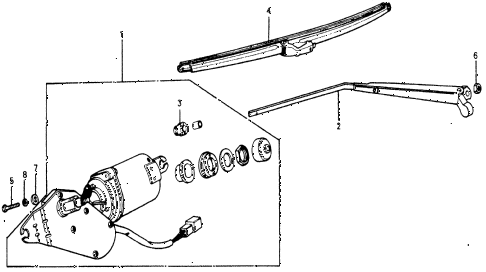 1977 accord STD 3 DOOR HMT REAR WINDSHIELD WIPER diagram