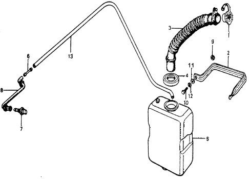 1976 accord STD 3 DOOR HMT REAR WINDSHIELD WASHER diagram
