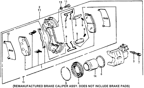 1976 accord STD 3 DOOR HMT FRONT BRAKE diagram