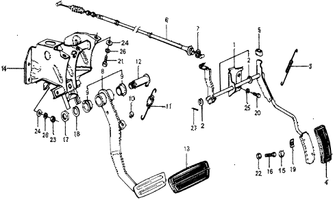 1977 accord STD 3 DOOR HMT HMT PEDAL diagram