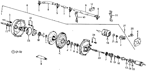 1976 accord STD 3 DOOR 5MT POWER MASTER diagram