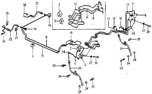 1978 accord STD 3 DOOR HMT BRAKE HOSE - BRAKE PIPE diagram