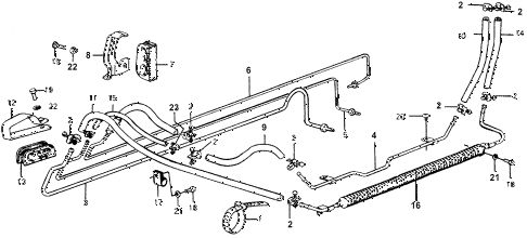1978 accord LX 3 DOOR HMT P.S. HOSE (LX) diagram