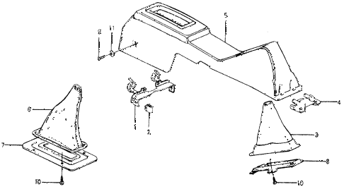1978 accord LX 3 DOOR HMT CENTER CONSOLE diagram