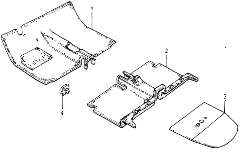 1978 accord LX 3 DOOR HMT FLOOR MAT diagram