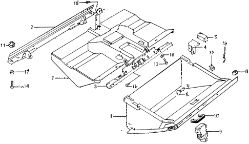 1978 accord LX 3 DOOR HMT GLOVE BOX diagram