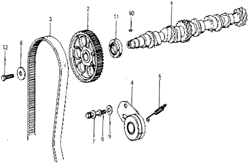 1978 accord STD 3 DOOR HMT CAMSHAFT - TIMING BELT diagram