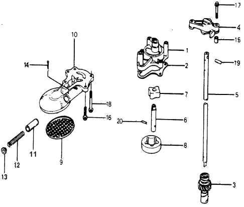 1977 accord STD 3 DOOR 5MT OIL PUMP diagram