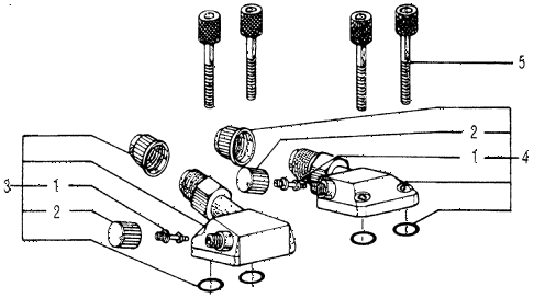 1978 accord LX 3 DOOR HMT A/C SUCTION VALVE - DISCHARGE VALVE diagram
