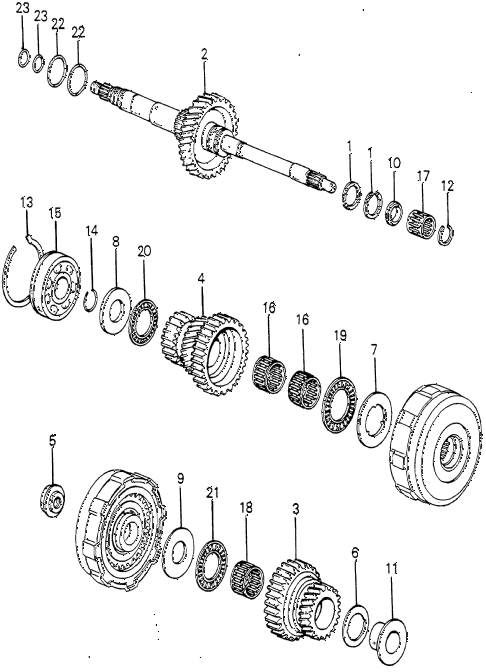 1982 prelude ** 2 DOOR HMT HMT MAINSHAFT (2) diagram