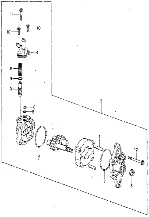 1981 prelude ** 2 DOOR HMT HMT P.S. PUMP COMPONENTS (1) diagram