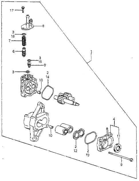 1982 prelude ** 2 DOOR HMT HMT P.S. PUMP - COMPONENTS (2) diagram