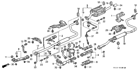 honda online store 1996 civic exhaust pipe parts rh estore honda com 2006 honda civic exhaust system diagram 1999 honda accord exhaust system diagram
