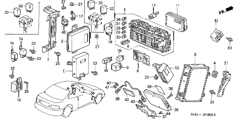1999 civic DX 2 DOOR 4AT CONTROL UNIT (CABIN) diagram