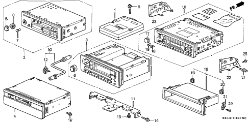 1997 civic HX 2 DOOR 5MT AUTO RADIO diagram