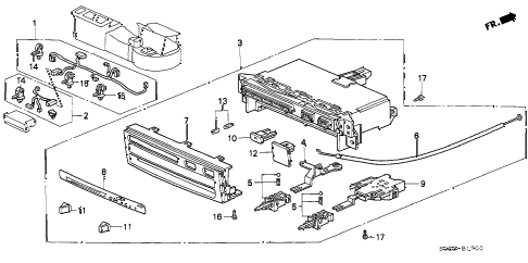 1998 civic EX(ABS) 2 DOOR 5MT HEATER CONTROL (1) diagram