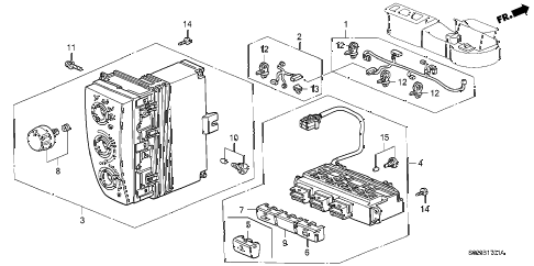 2000 civic DX 2 DOOR 5MT HEATER CONTROL (2) diagram