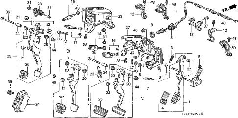 1997 civic DX 2 DOOR 5MT PEDAL diagram