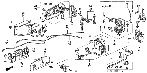 1998 civic HX 2 DOOR CVT DOOR LOCK diagram