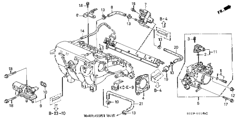 1997 civic HX 2 DOOR 5MT THROTTLE BODY (VTEC) (MT) diagram