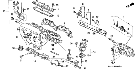 1998 civic HX 2 DOOR CVT INTAKE MANIFOLD (VTEC-2) diagram