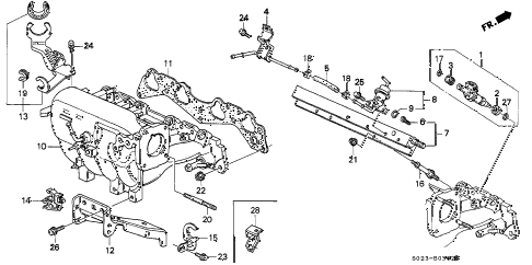 2000 civic EX 2 DOOR 4AT INTAKE MANIFOLD (VTEC) diagram