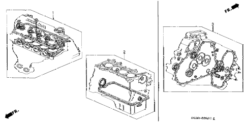 1997 civic HX 2 DOOR CVT GASKET KIT diagram