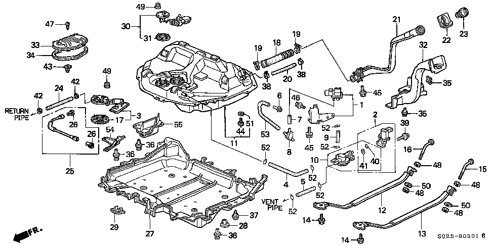 S023B0301B 1999 honda civic ex engine diagram wiring all about wiring diagram 1996 honda civic engine wiring harness diagram at gsmportal.co