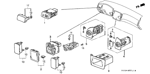 2000 civic CX 3 DOOR 5MT SWITCH diagram