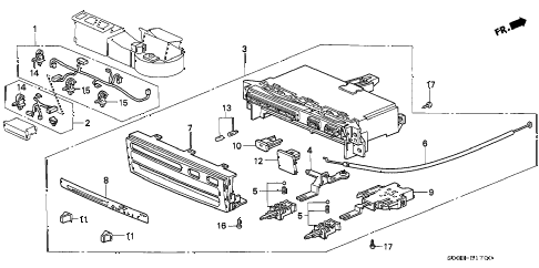 1996 civic CX 3 DOOR 5MT HEATER CONTROL (1) diagram