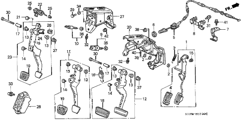 2000 civic DX 3 DOOR 5MT PEDAL diagram