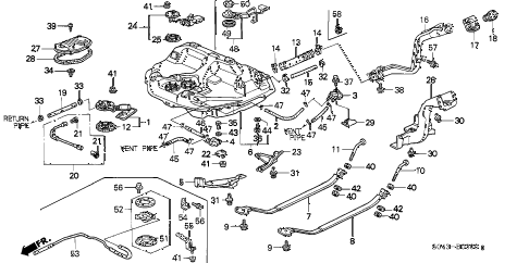 1996 civic LX 4 DOOR 5MT FUEL TANK (1) diagram