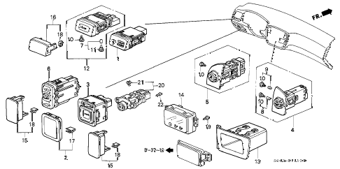 1996 civic DX 4 DOOR 5MT SWITCH diagram