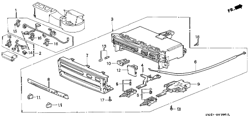 1996 civic DX 4 DOOR 5MT HEATER CONTROL (1) diagram