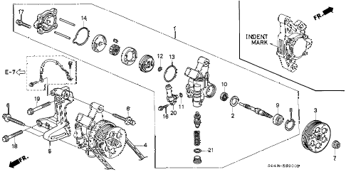1996 civic DX 4 DOOR 5MT P.S. PUMP - BRACKET diagram