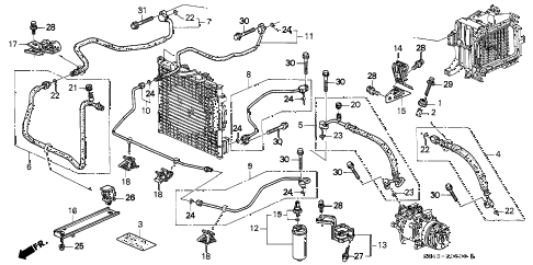 1996 civic LX 4 DOOR 5MT A/C HOSES - PIPES (DX,LX) diagram