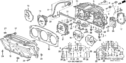 1999 civic EX 4 DOOR 5MT METER COMPONENTS diagram
