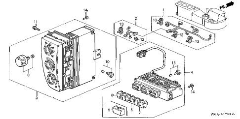 1999 civic LX 4 DOOR 5MT HEATER CONTROL (2) diagram